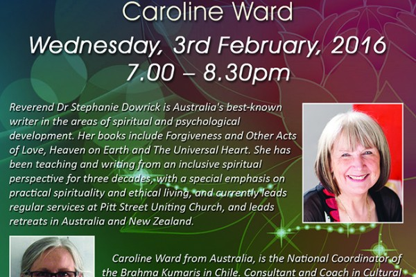 A spiritual welcome to 2016! Newsletter from Stephanie Dowrick